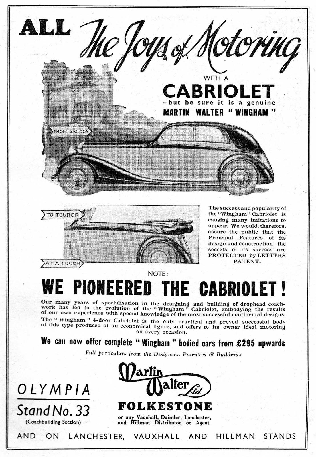 Walter Ltd dormobile advertising the brand