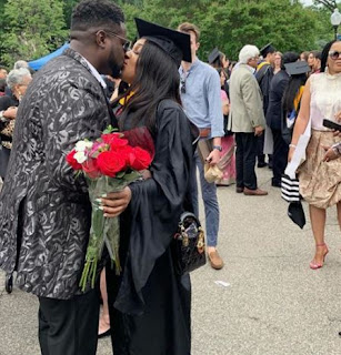Davido's Elder Bro, Adewale Adeleke Celebrated His Sweetheart Who Just Bagged A M.Sc Degree In Physiology And Biophysics From Georgetown University Today.