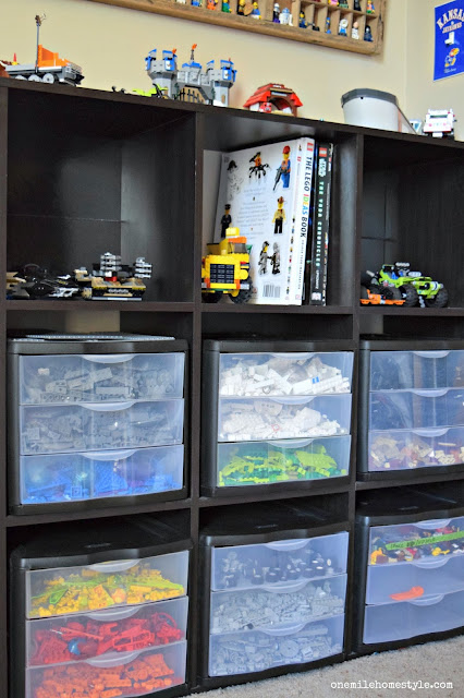 Lego Organizing Hacks for Kids' Rooms - One Mile Home Style