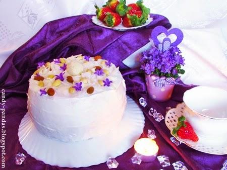 Ryżowy tort kokosowy (bez glutenu, laktozy, cukru)