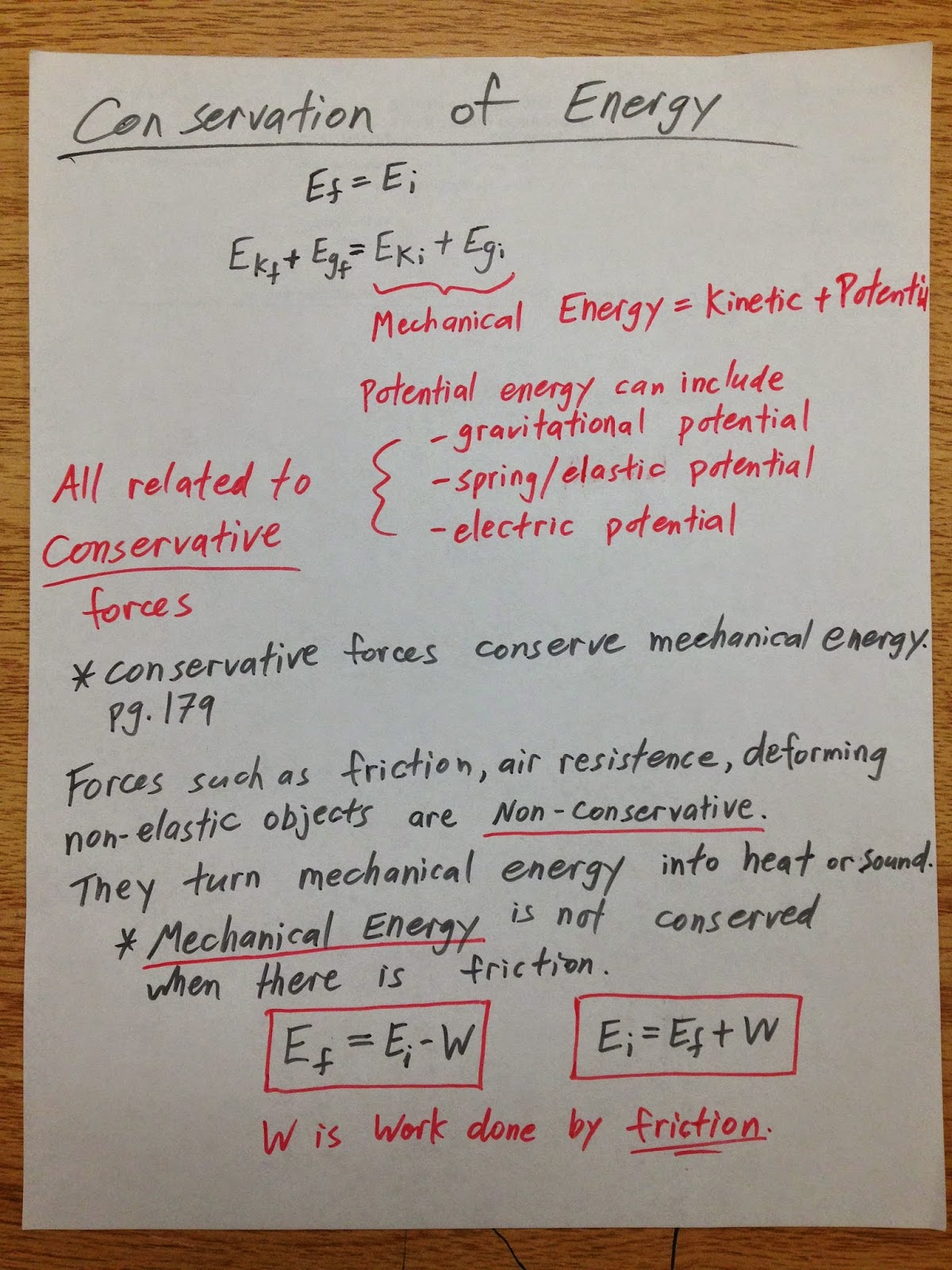 Grade 11 Physics Nov 10 Conservation Of Energy With Friction