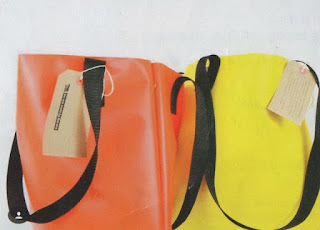 coloured PVC tote