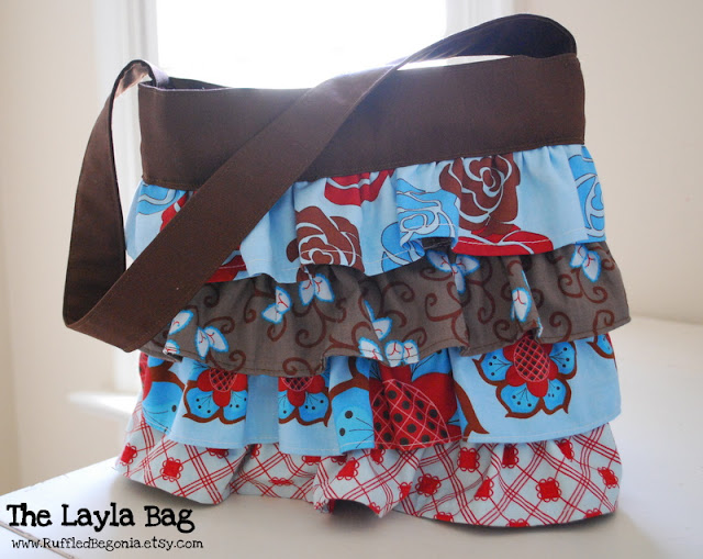 bag with ruffles