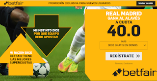 betfair supercuota Real Madrid gana al Alaves 6 octubre