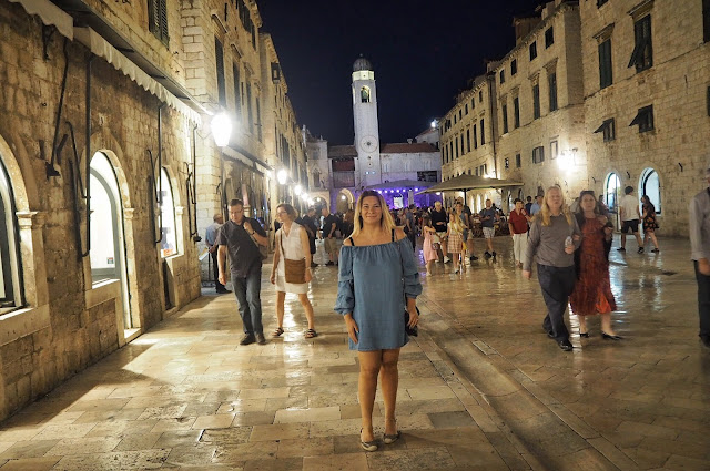 Stradun, Old City, Dubrovnik, Night, Tour, City