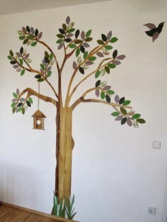 Stoffbaum-Deko-Kinderzimmer