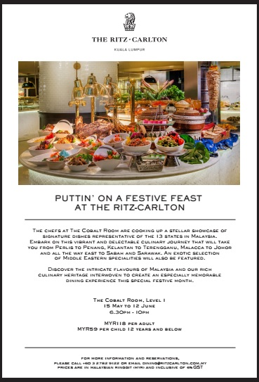 Ramadhan Buffet 2018 Cobalt Room Ritz Carlton Kuala Lumpur Buffet Promotion Price