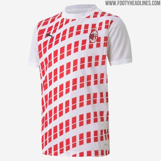 Away Kit Design Ac Milan 20 21 Away Pre Match Shirt Leaked Footy Headlines