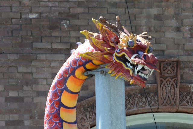 Chinatown Seattle dragon head
