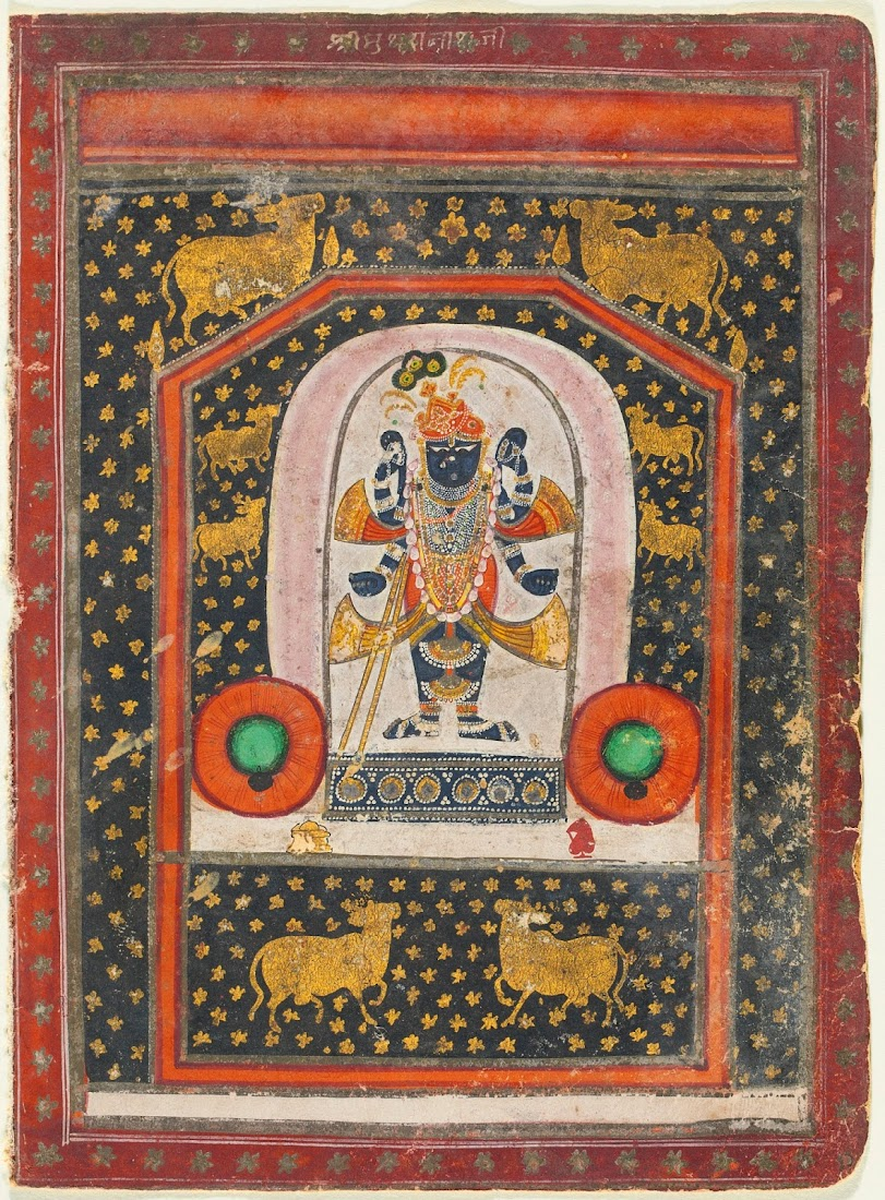 God Srinathji Nathwara Painting