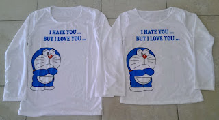Jual Online Sweater Dora Love Hate Couple Murah Jakarta Bahan Babytery Terbaru