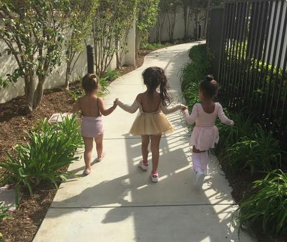 Cute photos of Penelope Disick, North West and their friend