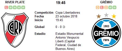 River Plate vs Gremio en VIVO