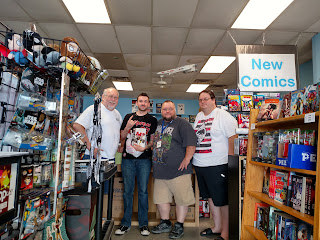 Donny Cates and store employees