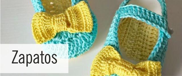 Zapatos para Bebés a Crochet