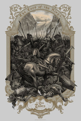 The Lord of the Rings: The Two Towers Screen Print by Jonathan Burton x Bottleneck Gallery