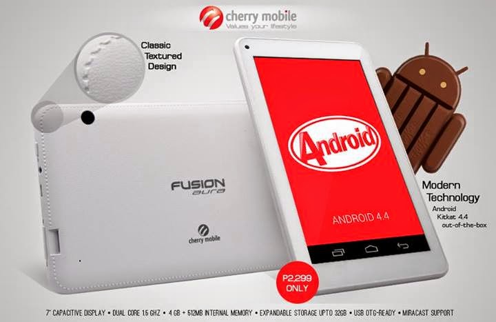 Cherry Mobile Fusion Aura: Specs, Price and Availability