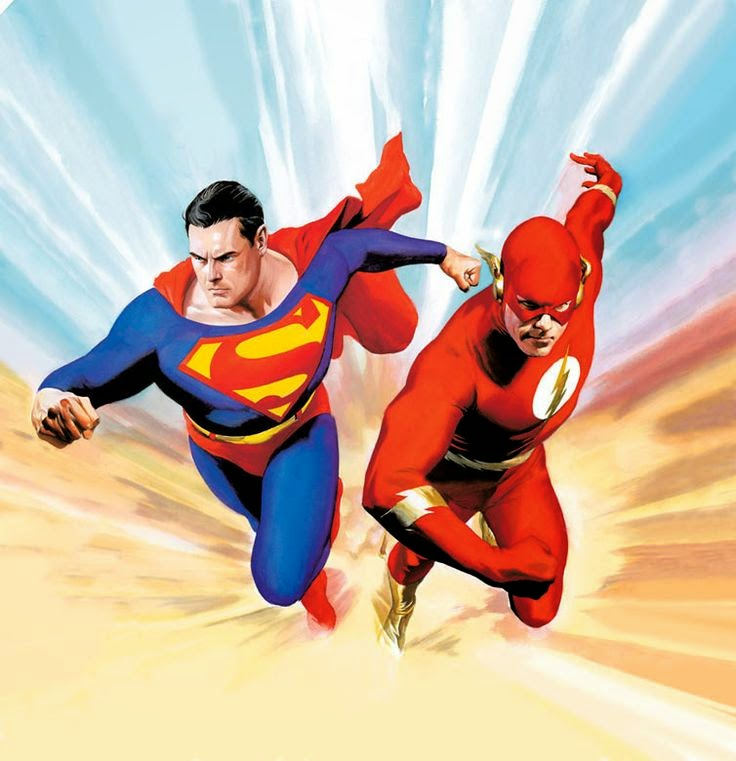 Dave's Comic Heroes Blog: Superman vs. Flash Run For Your Life