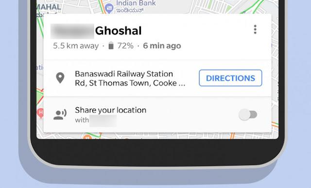 Không chỉ biết được họ đang ở đâu mà khi chia sẻ vị trí trên Google Maps, bạn còn có thể biết thời lượng pin của họ