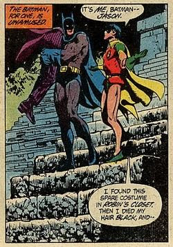 panel from Batman #366 (1983). Property of DC comics.