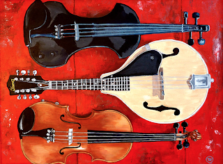 Musical instruments by Boulder artist Tom Roderick