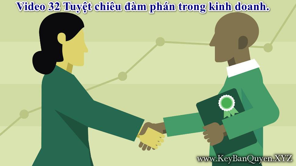Video 32 Tuyệt chiêu đàm phán trong kinh doanh.