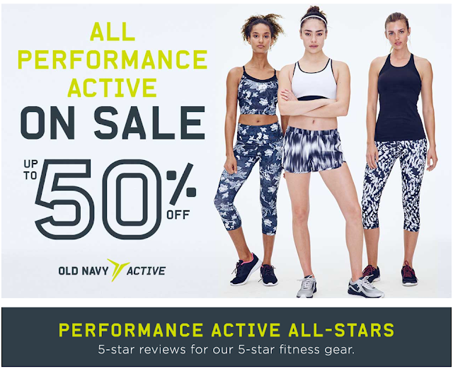 old navy 50% off sale
