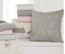 Love You Most pillow Mommy Cusses Pottery Barn Kids 2017