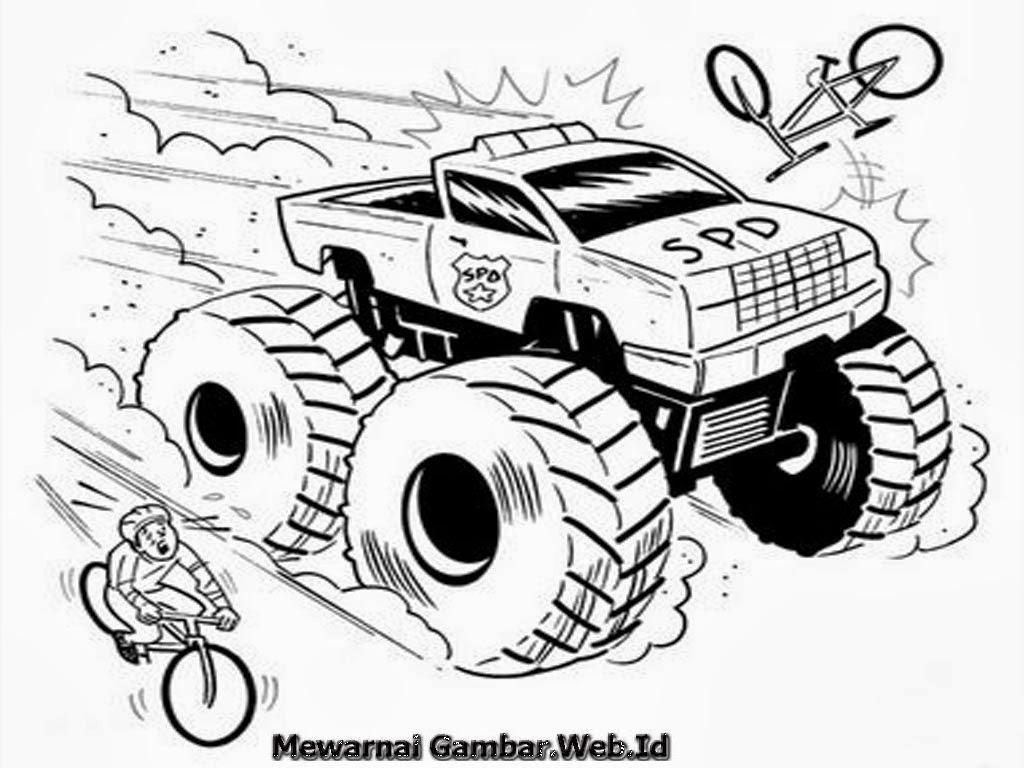Gambar Mewarnai Mobil Truk Auto Electrical Wiring Diagram