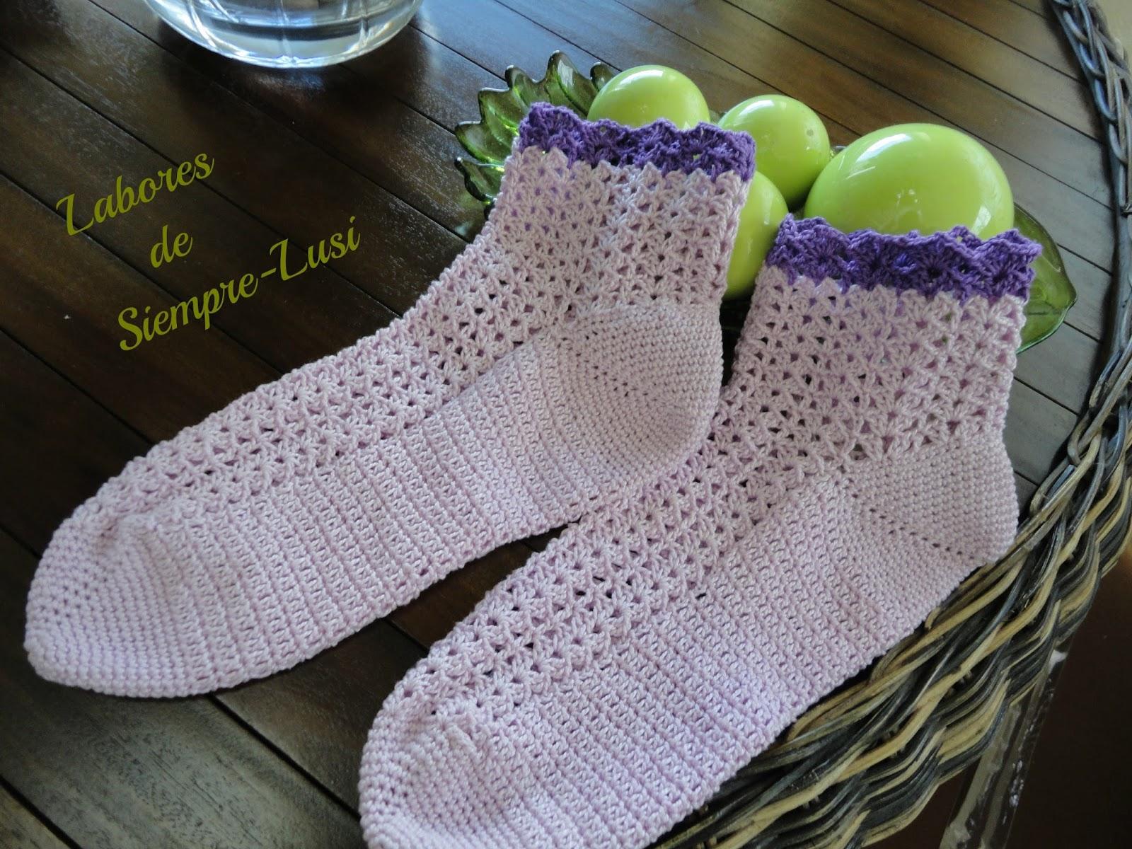 Labores de siempre calcetines a ganchillo - Como hacer calcetines de punto ...