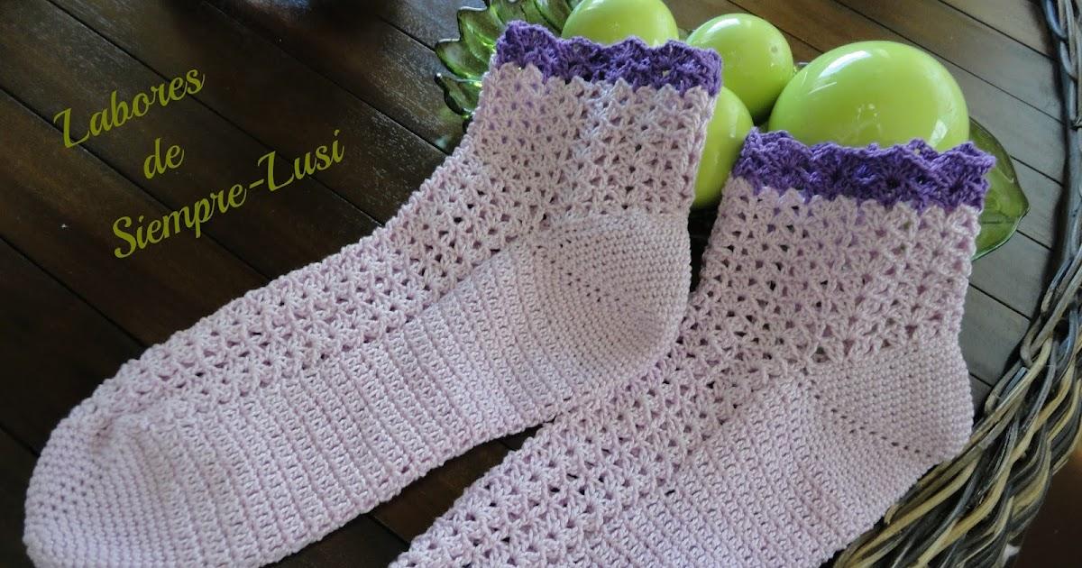 Labores de siempre: Calcetines a ganchillo