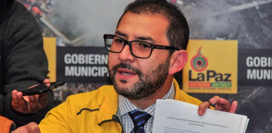 Director de Empresas, Entidades y Servicios Públicos de la Comuna paceña, Martín Fabbri
