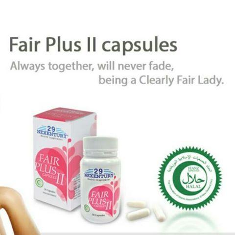 kapsul obat pemutih kulit 29 Nexentury Fair Plus II Capsules II