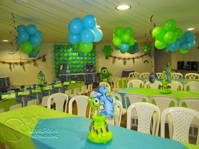 Decoracion monster university fiestas infantiles for Decoracion fiesta infantil nina