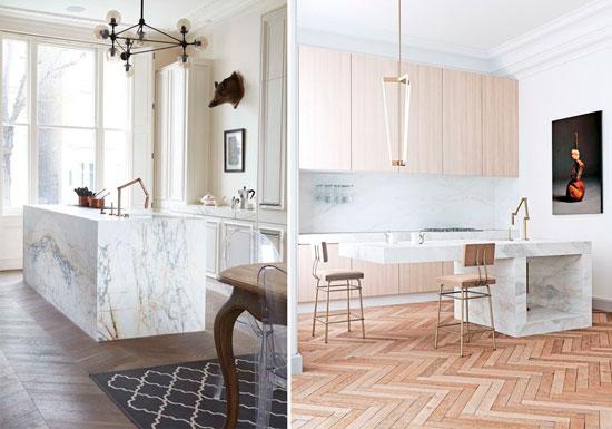 las cocinas realizadas con encimeras y azulejos de mrmol blanco tienen un aspecto ms limpio el mrmol es fcil de limpiar y esa condicin resulta toda