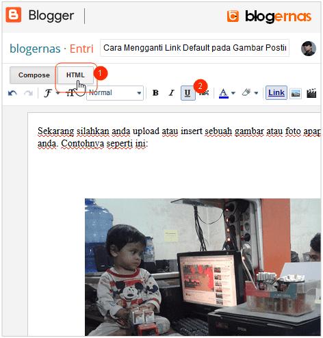 Cara Mengganti Link Default pada Gambar Postingan Blog