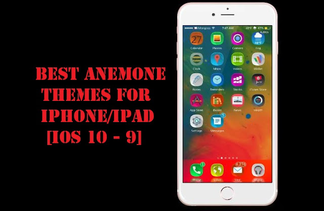 Are you looking for the best iOS 10, 10.2 and iOS 9 anemone themes for iPhone? Well, I have listed the Top and best compatible Anemone themes for iOS 10, 10.2 and iOS 9  which are freshly designed for all iPhone, iPad & iPod touch