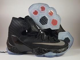 Sepatu Basket Nike LeBron 13 Elite Black, toko sepatu basket , jual sepatu basket , basket nike muraah, nike lebron elite, black