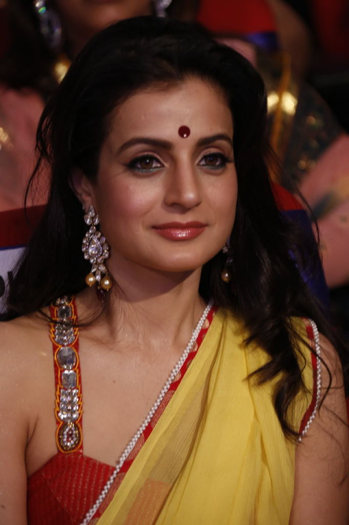 Baby doll Amisha patel and beautiful sri devi stills at tsr tv9 film awards