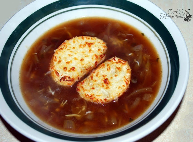French onion soup made with bone broth