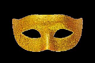 máscara dourada png
