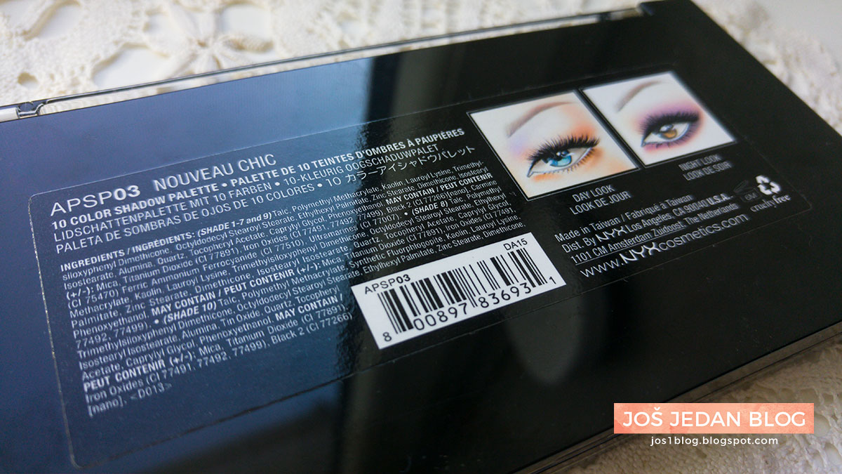 NYX Avant Pop Nouveau Chic paleta recenzija utisci sastojci review ingredients