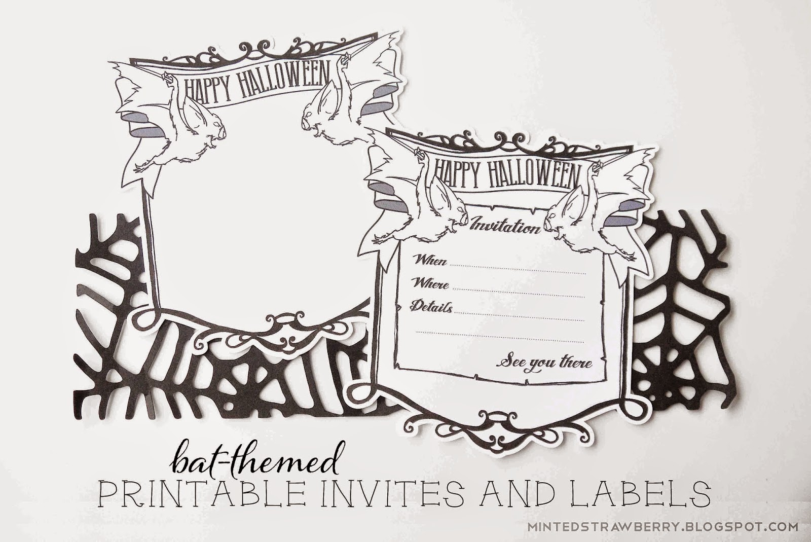 Free Printable Bat Invites And Labels