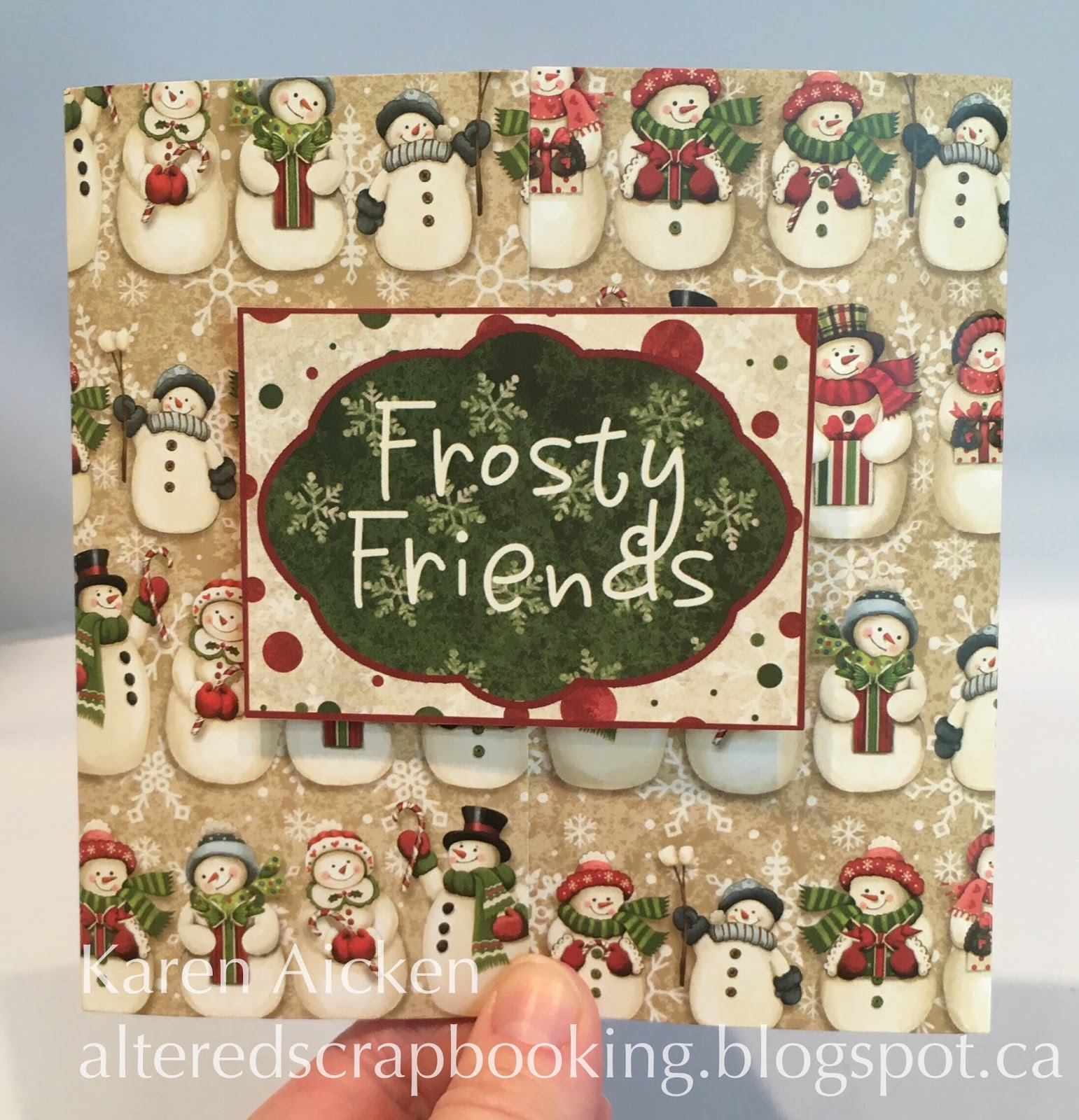 Altered Scrapbooking: Gatefold Christmas Card