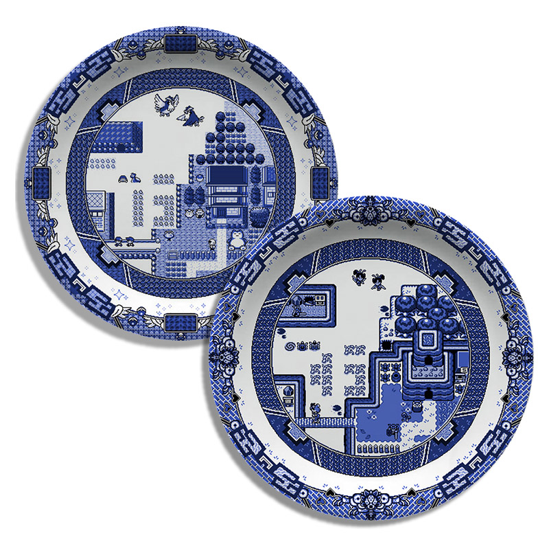 Blue Willow Dinnerware For Video Game Lovers  sc 1 st  If It\u0027s Hip It\u0027s Here & Blue Willow Dinnerware For Video Game Lovers by Olly Moss