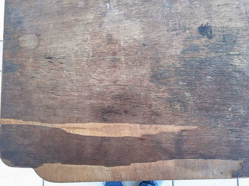 How To Quickly Remove Wood Veneer With A Heat Gun Thirty