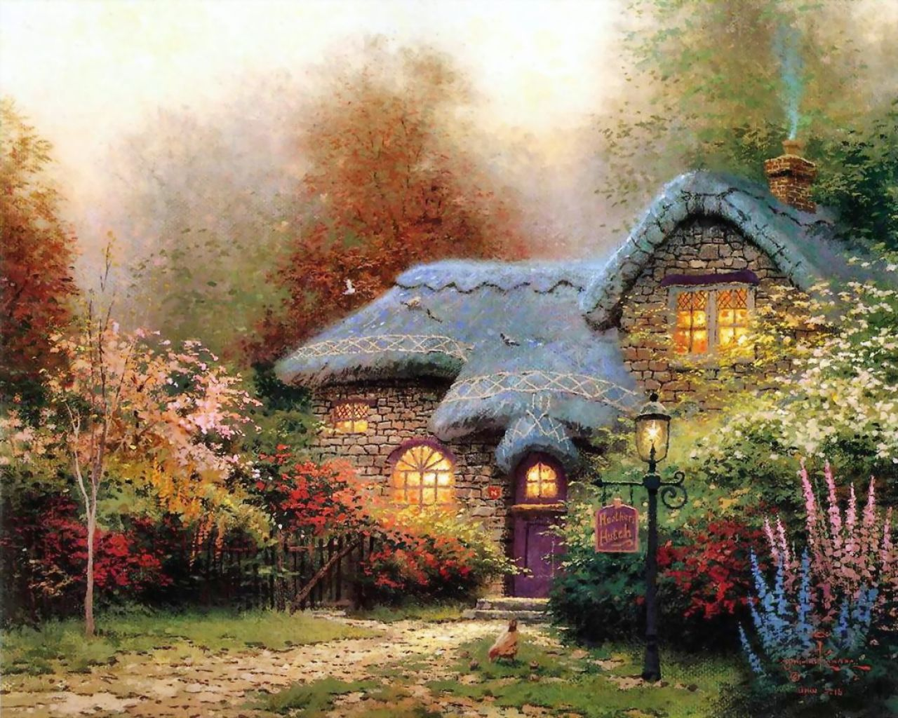 Home living cottages of love a tribute to thomas kinkade for Lovers home