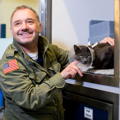 Bob Mortimer and DJ Loveham at Cats Protection NCAC