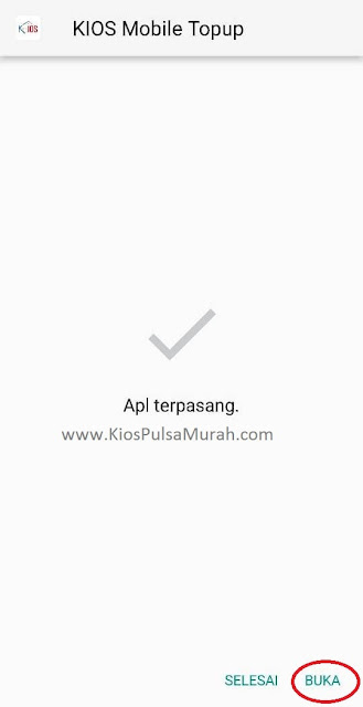Buka aplikasi Kios Mobile Topup