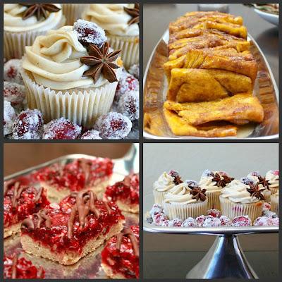 cranberry chai cupcakes